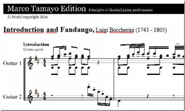 Boccherini Luigi, Introduction and Fandango